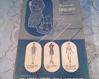 Hearthside Tru-Fit Personalized Dress Form Kit 1940's