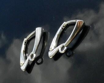 EXCLUSIVE Sterling Silver Lever Back ear earrings 925 1 PAIR European Earwires