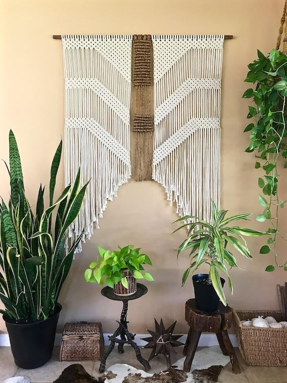 Cotton + Jute Macrame Wall Hanging