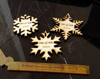 115 Snowflake Wedding Favors