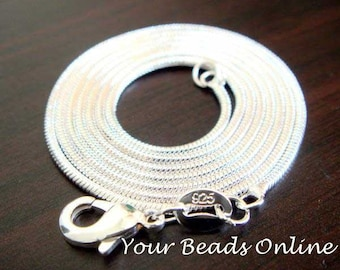 925 Sterling Silver Snake Chain Necklace 2mm 24 inch