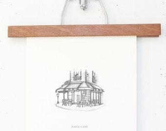 8x10 Travelogue Art Prints: Paris Cafes