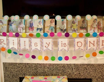 Confetti Themed Party Signs