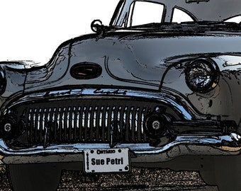 Classic Car Photography, Vintage Car Prints, Vintage Buick, Classic Buick, Antique Buick Prints, Digitally Enhanced Car Photography, Car Art