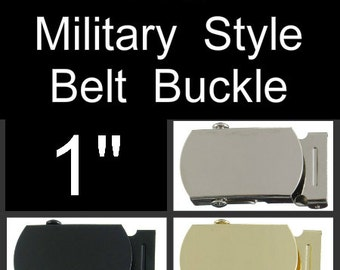 """12 BUCKLES - 1"""" - Metal Belt Buckle, 1 inch, Military Style with TIPS - You Choose Finish"""