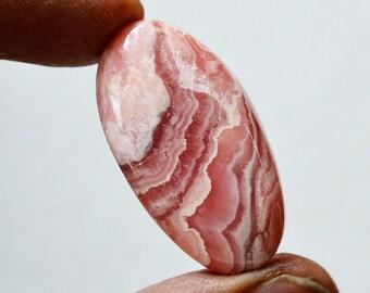 52 Cts Natural Rhodochrosite Oval Shape Pink Rhodochrosite Gemstone Cabochon 36x19x6.6 MM R16352