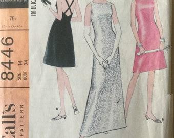 Sewing pattern  - dress pattern  - Size 14 - Bust  34 - Vintage Sewing Pattern - easy sewing pattern - 1960s sewing pattern