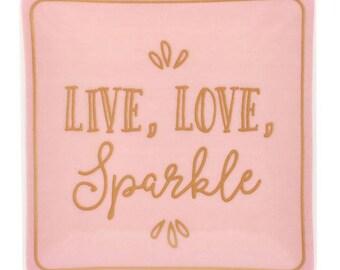 Live Love Sparkle Jewellery Dish