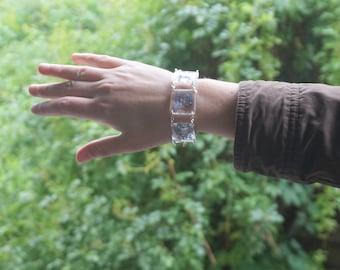 Nature bracelet Blue flower bracelet Floral bracelet Blue wedding jewelry Gift for girl Something blue bracelet Nature wedding girlfriend