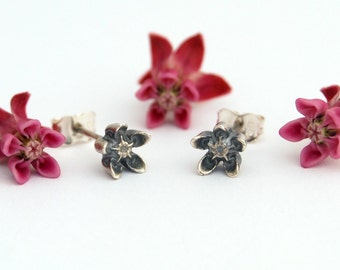 Milkweed Asclepias earrings -  Milkweed earrings sterling silver stud earrings