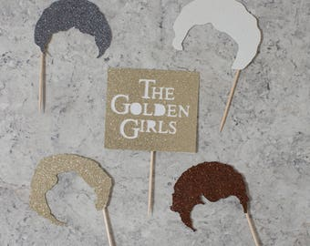 Golden Girls Themed Cupcake toppers; Birthday party