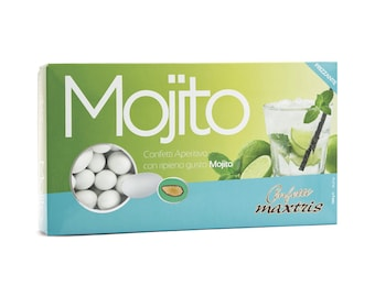 MAXTRIS MOJITO is wrapped in a layer of white chocolate, covered with a thin layer of sugar.
