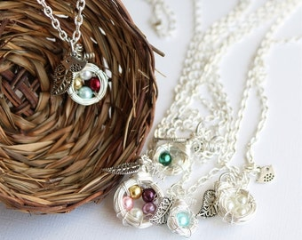 Mother's Family Nest Necklace