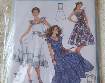 Sewing Pattern, Women's Dress Pattern, Sundress Pattern, Burda Pattern #8362 - Multuiple Sizes