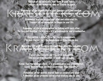 Christmas Poem for those that have lost their Grandma or Mom 8x10 Christmas without Grandma Christmas This Year Color Digital Download File