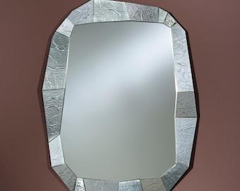 Miroir Moderne SHIFT SILVER Modern Rectangulaire Argent 92x127  cm