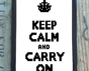 PDF PATTERN - Keep Calm and Carry On
