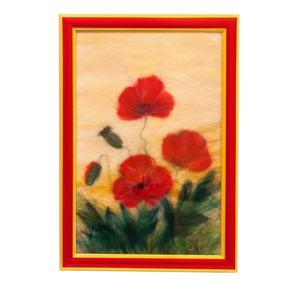Generous Red Poppy Wall Art Contemporary - Wall Art Design ...