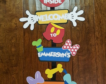 Mickey Mouse Clubhouse Name Front Door Sign