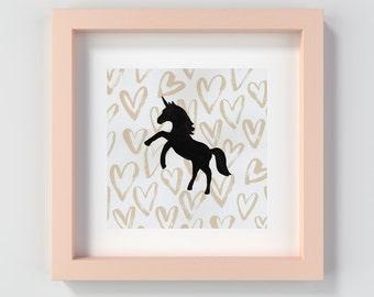 Pink Unicorn Painting Print, Unicorn Decor, Unicorn Artwork, Original Unicorn Art, Unicorn Nursery Art, Unicorn Kid's Art, Baby Girl Decor