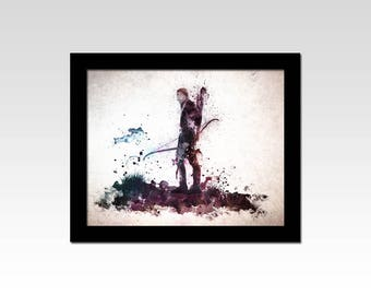 Lord of the Rings inspired Legolas watercolour effect print