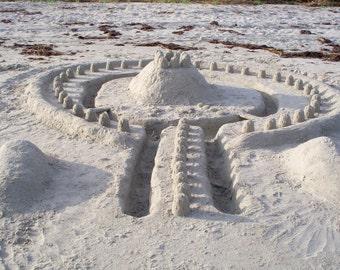 Sand Castle, St. Simons Island, GA--5 x  7 fine art photo, signed