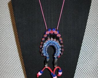 Indian Headdress pendant or Car Art~Native Made