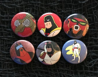 "Space Ghost Coast to Coast  1"" Pin Set"