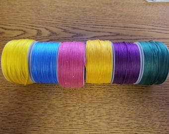 Embroidery Thread Floss - 6 colors, some used
