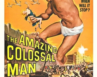 Spring Sales Event: The Amazing Colossal Man Movie POSTER (1957) Sci-Fi
