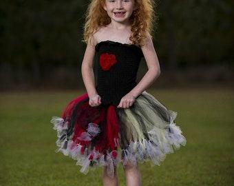 Queen of Heart Tutu skirt Set. Photo Props, Petti tutu, custom made you choose your colors