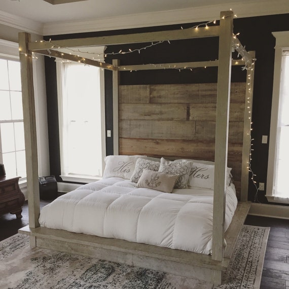 white canopy bed reclaimed wood canopy bed white 13098