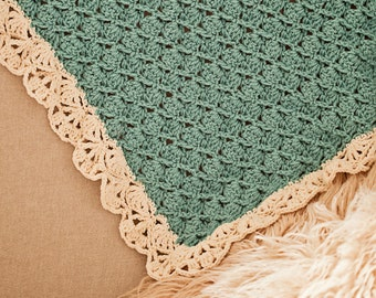 Crochet PATTERN - Seashell Blanket