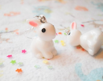 Bunny Earrings, Rabbit Earrings, Kawaii Earrings, Sweet Lolita, Cute Earrings, Kawaii Kei, Pop Kei, Harajuku, Girls Gift, Animal Earrings