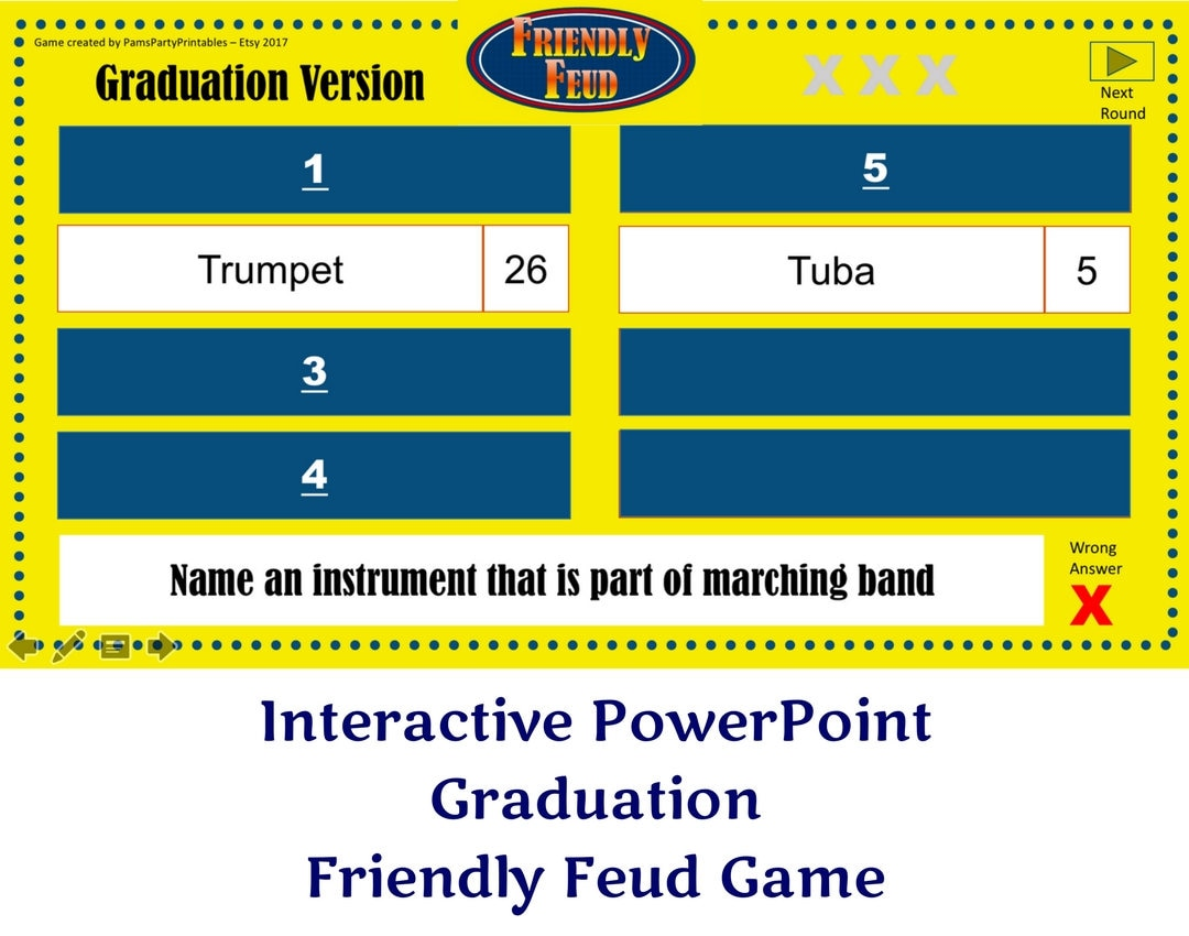Graduation friendly feud game 1 family feud interactive zoom alramifo Choice Image