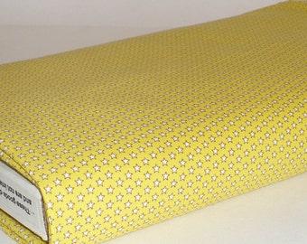 Mini Stars Fabric, Quilting, 1/2 YARD, Yellow, White, Marcus Bros, Cotton