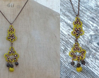 SEVILLA yellow & gold pendant necklace