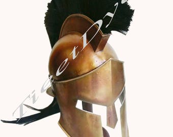 300 Movie King Leonidas Spartan Helmet Greek Warrior Costume Helm Medieval Gift