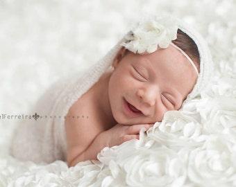White Wrap Set, White Knit Wrap, Wrap Set, Knit Wraps, Newborn Prop, Newborn Knit, Newborn Wrap Set, Photography Prop, Knit Wrap Set