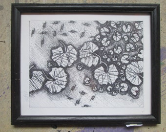 Pen and Ink Geranium Leaves
