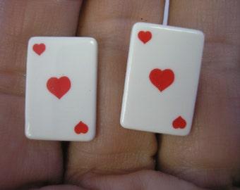 """Ace of Heart - Clip Earring - 1/2"""" x 3/4"""" - Play Earring"""
