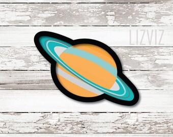 Planet Cookie Cutter. Saturn Cookie Cutter
