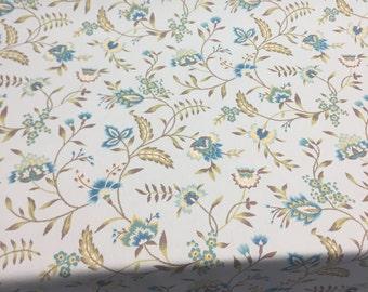 Waverly Carolina Crewel Mist blue Fabric By the yard