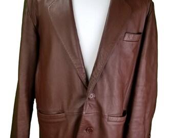 Vintage Lucky Leather Co. Coat Jacket