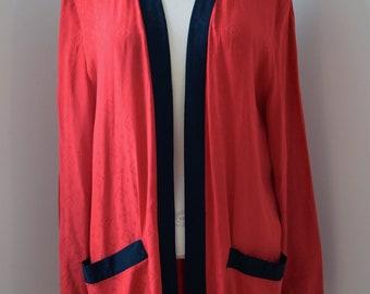 Red Smoking Jacket