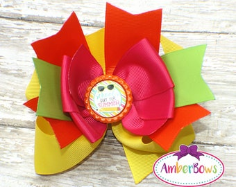 Shine Bright Like a Diamond Bow, Shine Boutique Bow, Girl Hair Bow, Medium Boutique Bow, TBB Hair Bow, Multicolor Bow