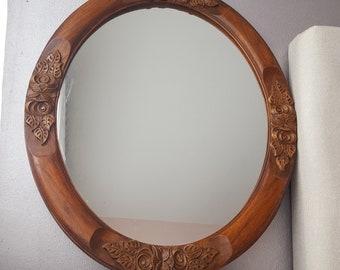 Ronde Houten Spiegel : Ronde spiegel met houten lijst cool antieke spiegel with ronde