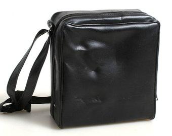 Vintage Camera Bag//Carrying Case//Square Bag