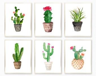 Succulent Prints, Succulent Set, Succulent Wall Art, Cactus Print, Succulent  Sets, Succulent Decor, Succulent Printables, Cactus Art Prints