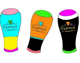 3 Guinness Colour Pop